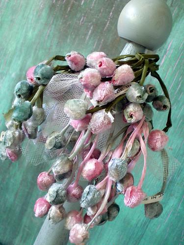 Vintage Velvet Japanese Millinery Rosebuds (three)