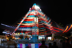 Carnival: Hurricane in motion (StGrundy) Tags: longexposure carnival atlanta summer motion night dark georgia lights moving lowlight nikon nightshot arms south hurricane roswell southern exposition rides rotating amusements bouncing fastpaced actionpacked weightlessness centrifugalforce d80 colorphotoaward peachtreerides nikonflickraward ubej ultimate~brilliant~eye~jewels stomahwrenching