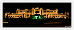 Prime Minister House -Panorama (awahid) Tags: pakistan light house night canon prime low trails independence minister panaroma islamabad 400d awahid