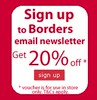 Borders email sign up