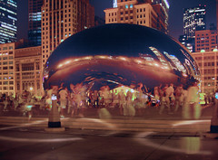 "Chicago - ""night bean"" (doug.siefken) Tags: park city urban cloud chicago art clouds geotagged illinois gate colorful downtown cityscape michigan doug windy bean millennium r douglas kapoor anish nite hdr chicagoan siefken dougsiefken douglasrsiefken justchicagoart"