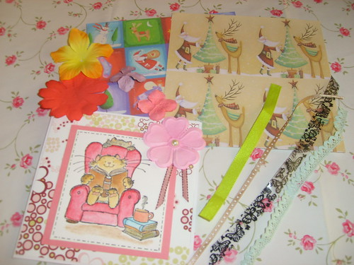 Beautiful handmade card and materials from a friend by you.