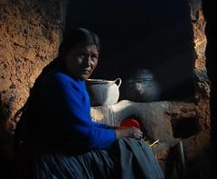 The milkmaid (Versatile Aure) Tags: people lake peru lago guinea pig guineapig cuy native titikaka puno quechua challengeyouwinner