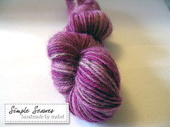 Simple Scarves Handdyed Superwash Sock II - Amethyst