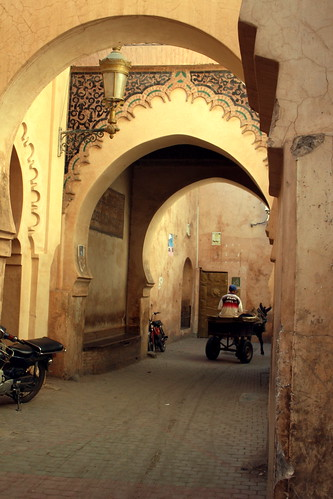 Outside of a Medersa, Marrakesh