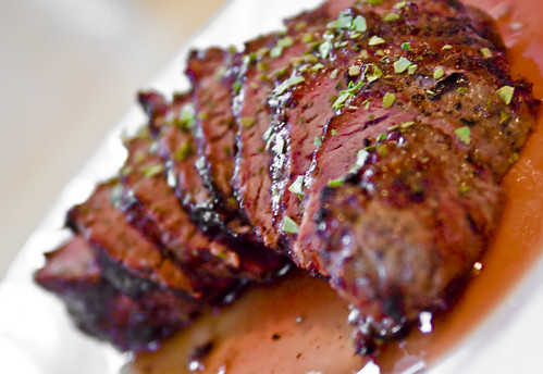Peppercorn beef steak