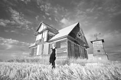 093008 (austinspace) Tags: portrait blackandwhite bw woman white house black abandoned barn rural washington day farm daily homestead davenport perday p1f1