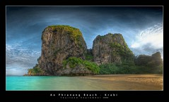 Ao Phranang Beach (d.r.i.p.) Tags: longexposure sunset panorama beach night germany thailand deutschland nikon asia nightimages widescreen drip thai bluehour hdr krabi hdri 18mm railay railaybeach photomatix d80 hdrpanorama aophranang vertorama hdraward artinoneshot
