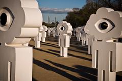 Field Of Dreams (bovinemagnet) Tags: sculpture music art festival river giant artwork nikon outdoor modernart dream statues australia melbourne victoria yarra imagination birrarungmarr  d90   outdoorgallery dreamfield  dreamfestival  dreamfestivalcomau