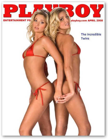Karissa and Kristina Shannon on Playboy Cover