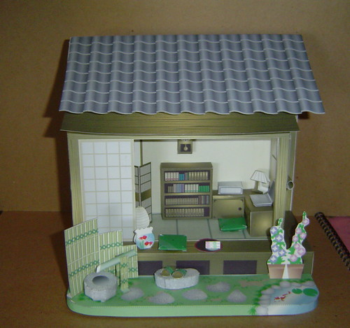 Japanese Paper House Model by redwing480.