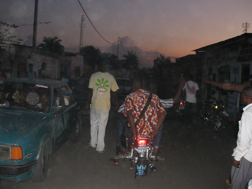 taxi moto in the evening