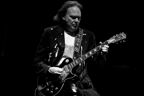 Neil Young at Key Arena by Laura Musselman