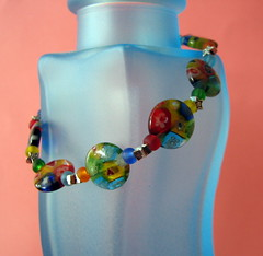 Rainbow glass bracelet (by glamourfae)
