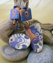 ArtDeco (julie_picarello) Tags: house yellow beads wire julie jewelry clay sterling rivet polymer gane mokume picarello