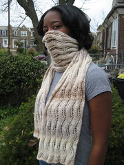 silk garden bandit (jenjerpeach2) Tags: knitting knitty laceribbonscarf silkgardensock