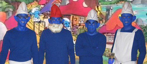 the whole smurfing bunch