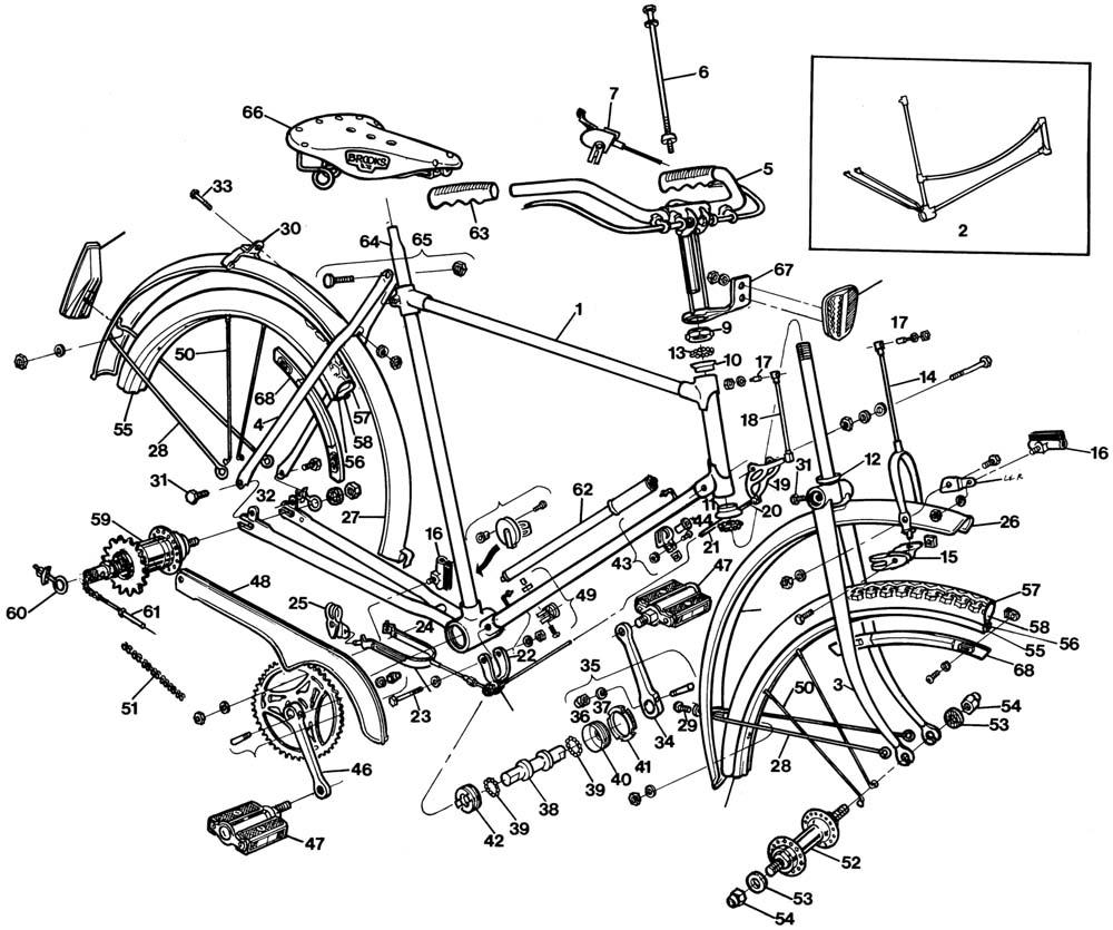 rod brake or stirrup brake types and manuals bike forums rh bikeforums net Bicycle Brake Kits Bicycle Coaster Brake Hub