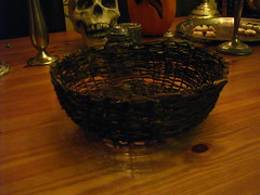 nov 018 (sarahracha) Tags: green spiral basket recycled woven coil weave plasticbags plarn