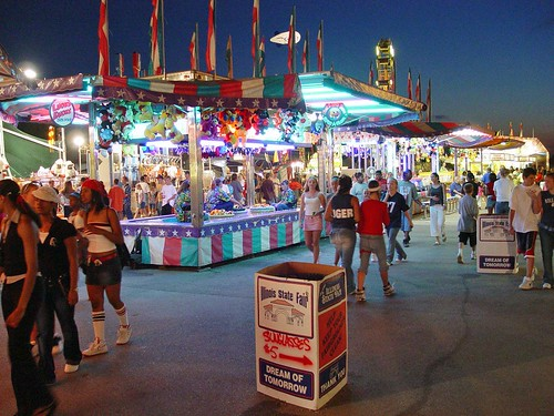Illinois State Fair Midway at Night
