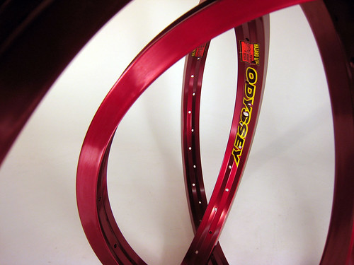 Red Anodized Rims - Available Now!