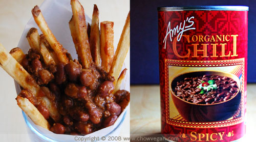 Amy's Spicy Chili Fries
