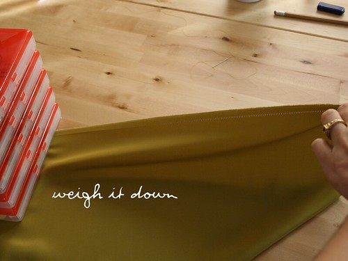 weigh it down