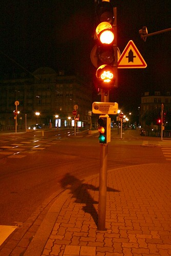 Traffic Light in Strasbourg France with Bike light
