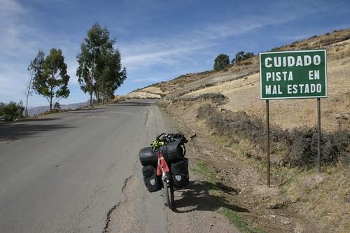 (Not so) bad roads leaving Puquio, Peru.