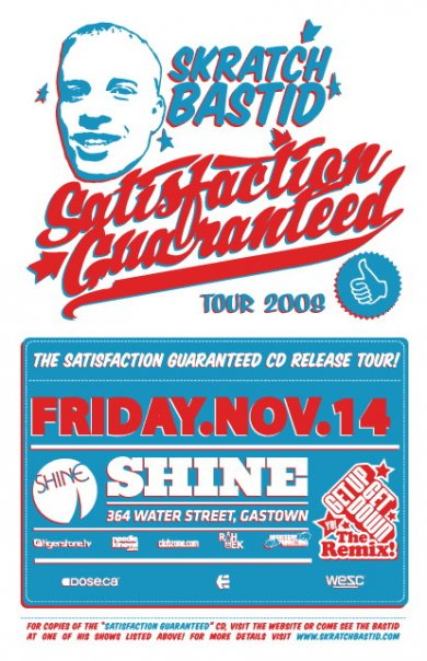 bastid satisfaction guranteed flyer