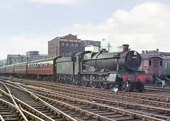 'Grange' class no.6861 'Crynant Grange'. Birmingham (Snow Hill). 28 April 1964 (ricsrailpics) Tags: uk colour steam 1964 gwr 460 birminghamsnowhill exgwr grangeclass 68xx 6800class uksteampool
