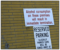 Alcohol Consumption Prohibited