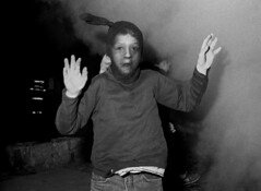 Car-burning, Halloween, Fassaroe, Bray, Co Wicklow 1992 (Skyroad) Tags: ireland halloween fire trickortreat smoke streetphotography streetportrait flashphotography vandalism firemen wicklow bray burningcar pyromania blackandwhitephotography urbanphotography firedance abandonedcar dontparkhere edgy caronfire urbankids cotcmostfavorited cotcmostfavourited maskedavenger putemup anonymousboy urbanimages roughgames afterweegee maskedyouth automobilesetalight markgranierportfolio