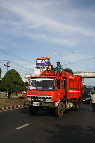 Garbage collectors riding high