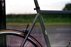 rear end (SFD (professional loungist)) Tags: road slr bike wheel 35mm iso800 fuji spokes cycle brake 105 build rim russian triathlon racer specialized hellcat seatpost caliper allez zenite kore specializedallez pressprofessional zcg helios442lens allezcat
