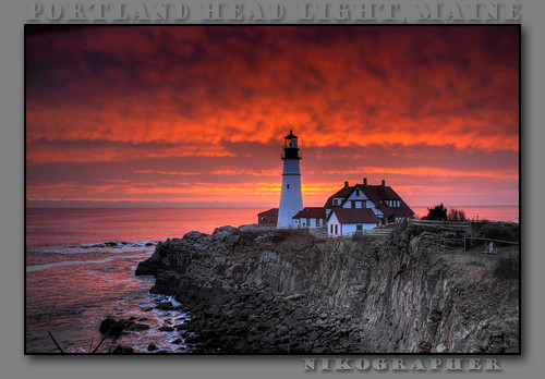 Sunrise @ Portland Head Light, ME