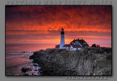 Sunrise @ Portland Head Light, ME (Nikographer [Jon]) Tags: nov november lighthouse seascape me sunrise landscape dawn landscapes maine 2008 phl atlanticocean hdr portlandheadlight d300 capeelizabethmaine 5exp oceanstnc08 imagesforblog1 15minutesbeforesunriseactually 20081128d30041806 4wrmc