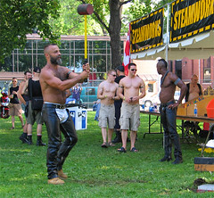16july06090a (buzzchap) Tags: park street gay shirtless haircut man hot cute sexy male men guy public muscles hair buzz outdoors goatee flat masculine barechested muscular top bare chest ripped handsome hunk dude moustache jeans mohawk bodybuilder buzzcut crewcut flattop abs chaps facial stud hunky abdominals