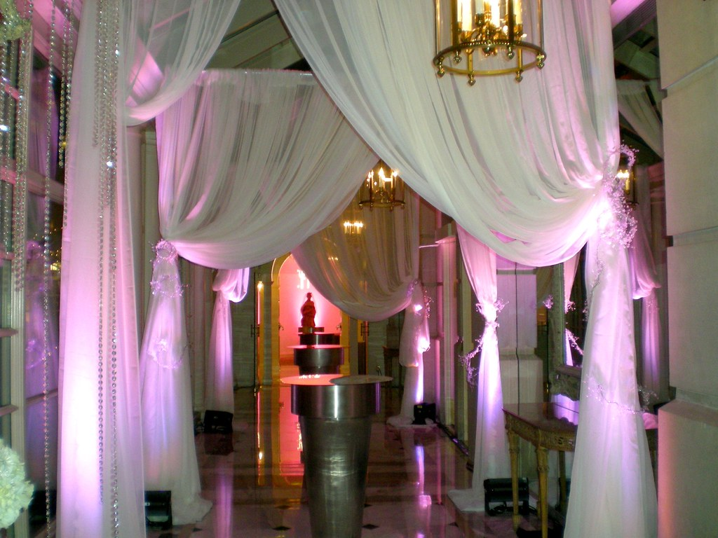 Drape and lighting at the Fairmont