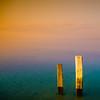 Pair (Khaled A.K) Tags: wood sea sky orange seascape green water clouds photography sticks surrealism surreal pit sa jeddah saudiarabia khaled waterscape ksa saudia tobaccofilter jiddah kashkari omluj