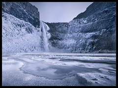 Frozen Palouse Falls (Chip Phillips) Tags: blue cold ice horizontal landscape photography frozen waterfall washington state northwest phillips canyon falls chip inland palouse colorphotoaward alemdagqualityonlyclub alemdaggoldenaward