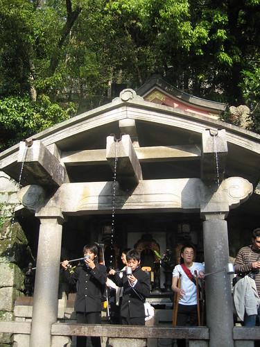 Otawa no taki en el templo Kiyomizu dera