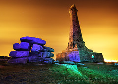Carn Brea Monument Light Paint - HDR (Light Painted Cornwall) Tags: light lightpainting monument pool tristan night painting star long exposure paint cornwall painted trails hdr brea redruth barratt lightpaint camborne carn lightpainted noctography lightpaintedcornwall