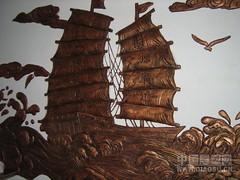 您好请收我们雕刻的石雕船图片(我中央美院美院家乡石雕厂刘亚)