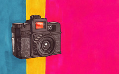 Background - Holga (invisibleElement) Tags: camera wallpaper color sketch holga marker desktopbackground 1680x1050 invisibleelement
