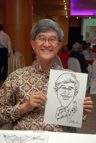 Caricature live sketching for Christ Methodist Church Christmas Celebration - 9