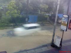 Flood in front Office (5) (yuniar_wg) Tags: office flood front semarang kantor banjir hardrain