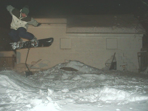 Russ Backyard jump 2003