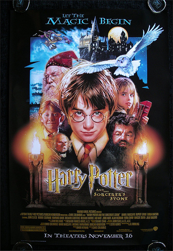 Harry Potter and the Philosopher's Stone(2001) poster.