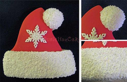 Santa Hat Christmas Cookie